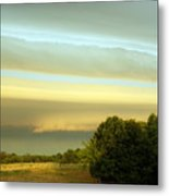 Layered Clouds Metal Print