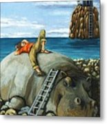 Lazy Days - Surreal Fantasy Metal Print by Linda Apple
