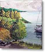 Lazy Lakeside Day Metal Print