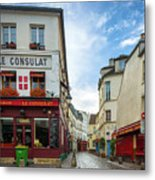 Le Consulat Metal Print by Inge Johnsson