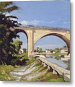 Le Pont Canal A Briare Metal Print