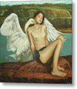 Leda And The Swan - Passionate Metal Print