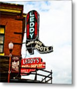 Leddy's Boots Metal Print by David Waldo
