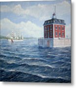 Ledge Lighthouse Metal Print