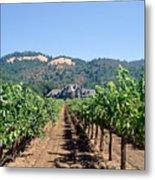 Ledson Winery And Vineyard Sonoma County California Metal Print
