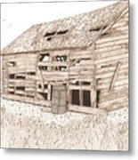 Lee's Barn Metal Print by Pat Price