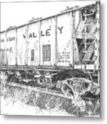 Lehigh Valley Coal Car Metal Print