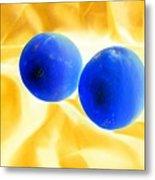 Lemon Blue Metal Print