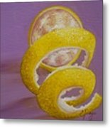 Lemon Twist I Metal Print
