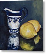 Lemons And Cream  Metal Print