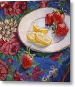 Lemons N Berries Metal Print