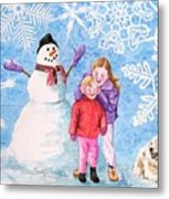Let It Snow Metal Print