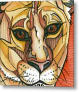 Let The Lioness Arise Metal Print