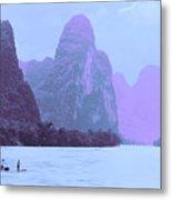 Li River Boaters Metal Print