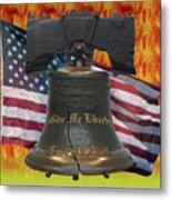 Liberty On Fire Metal Print