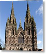 Lichfield Cathedral Metal Print