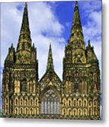 Lichfield Cathedral - The West Front Metal Print