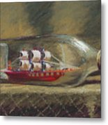 Life In A Bottle Metal Print