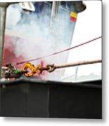 Lifeboat Chocks Away  Metal Print by Terri Waters
