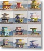 Lifeguard Houses Metal Print