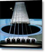 Light Blue Guitar 13 Metal Print