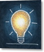 Light Bulb Design Metal Print by Setsiri Silapasuwanchai