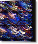 Light In A Stained-glass Metal Print