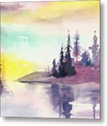 Light N River Metal Print
