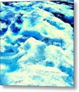 Light On Glacier Metal Print