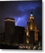 Lightening Over Providence Metal Print by Vicki Jauron