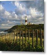 Lighthouse At Montauk With Dramatic Sky Metal Print