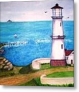 Lighthouse Glory Metal Print