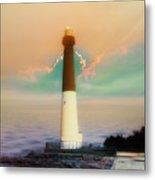 Lighthouse Sunrise Metal Print