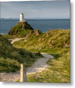 Lighthouse Twr Mawr Metal Print