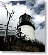 Lighthouse With Twist Metal Print