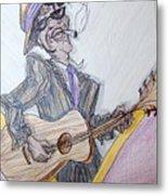 Lightnin Hopkins Blues Sketch Metal Print