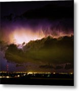 Lightning Thunderstorm Cloud Burst Metal Print by James BO  Insogna