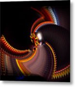 Lightning Wheel Metal Print