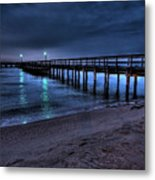 Lights At The End Of The Pier Metal Print