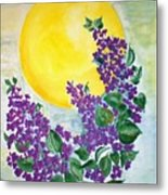 Lilacs In The Midnight Sun Metal Print