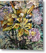 Lilies And Chrysanthemums.1999 Metal Print