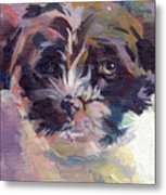 Lilly Pup Metal Print