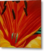 Lilly Vertigo Metal Print