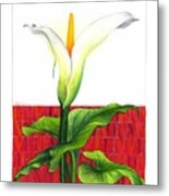 Lily In The Environment Metal Print