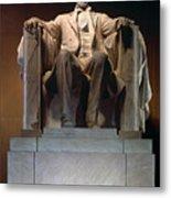 Lincoln Memorial: Statue Metal Print by Granger