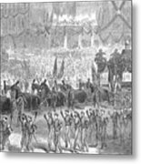 Lincolns Funeral, 1865 Metal Print