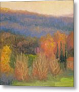 Lingering Light - Tuscany Metal Print