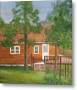 Little Cabin In The Big Woods Metal Print