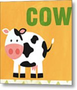 Little Cow Metal Print by Linda Woods