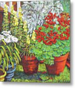Little Flower Pot Garden Metal Print
